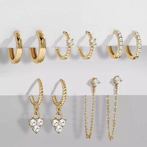 18k Set of Gold Vermeil Stackable Huggies Earrings